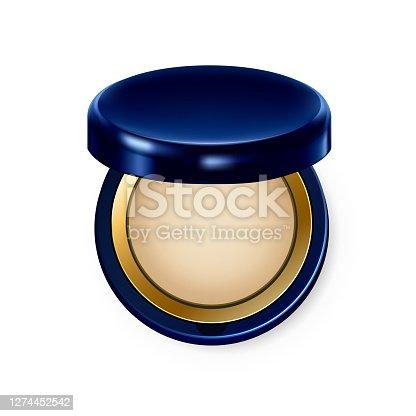 istock Make Up Powder Visage Complexion Cosmetic Vector 1274452542