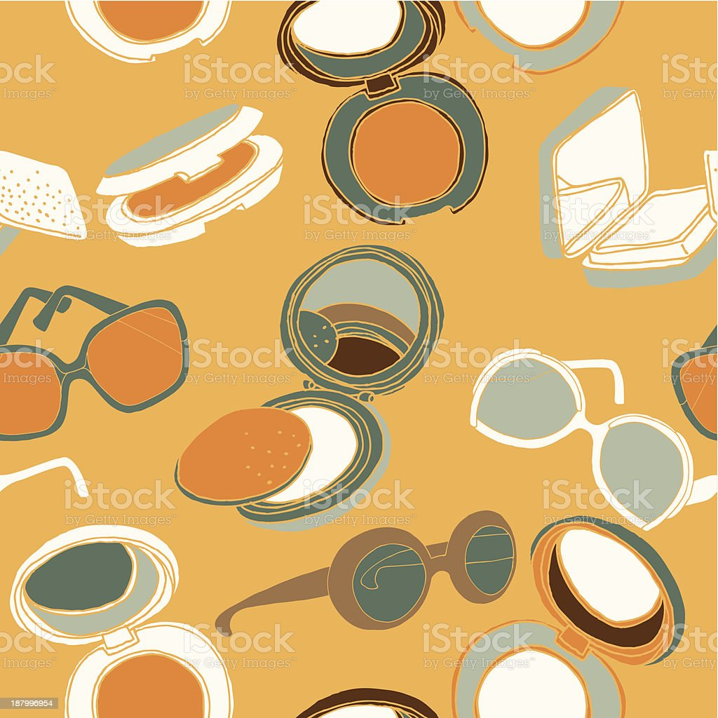 Make up seamless pattern royalty-free stock vector art