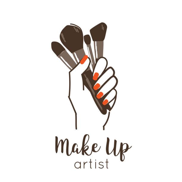 bildbanksillustrationer, clip art samt tecknat material och ikoner med göra upp symbolen - makeup artist