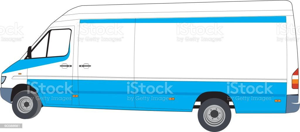 Make your delivery van !! (vector) royalty-free make your delivery van stock vector art & more images of blue