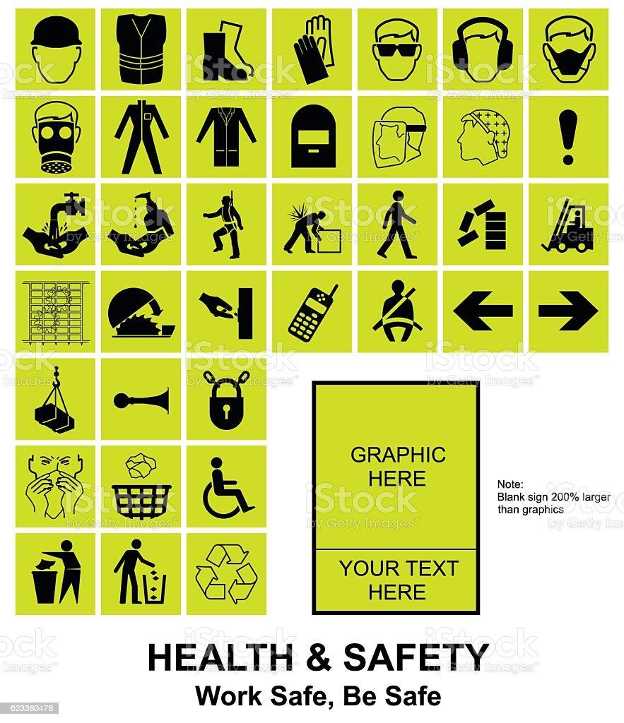Make your own Health and Safety signs - ilustración de arte vectorial
