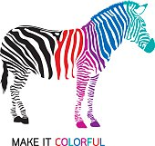 Make zebra colorful