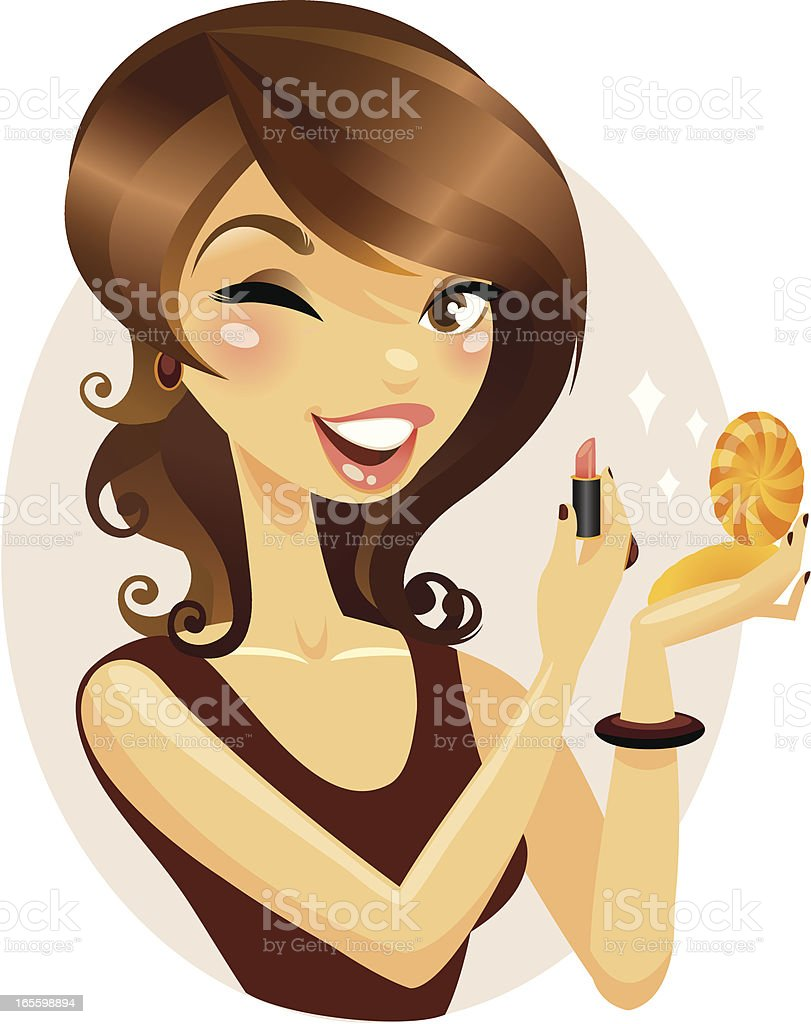 Makeup application royalty-free makeup application stock vector art & more images of adult