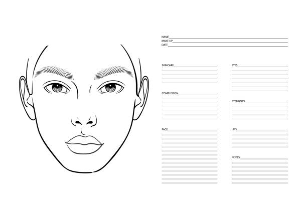 Blank Profile Faces Templates - Add Your Face Clip Art Set for Commercial  Use