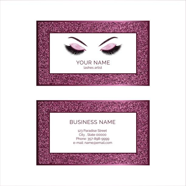 Makeup artist business card design vector art illustration