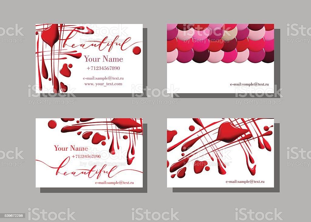 Makeup Artist Business Card Stock Vector Art & More Images of Arts ...