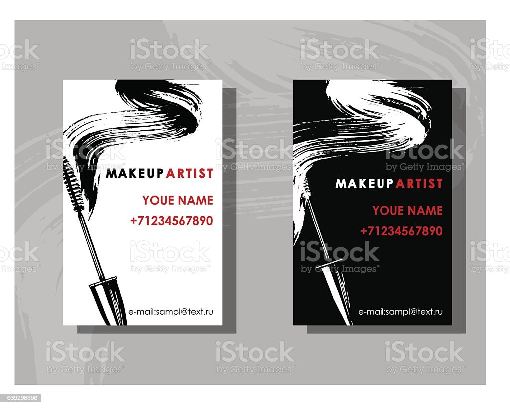 Makeup Artist Business Card Stock Vector Art & More Images of ...