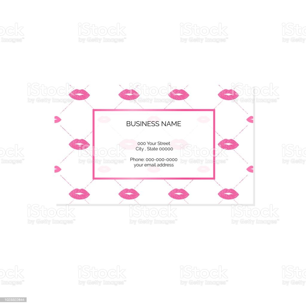 Makeup Artist Business Card Vector Template Stock Illustration - Download  Image Now
