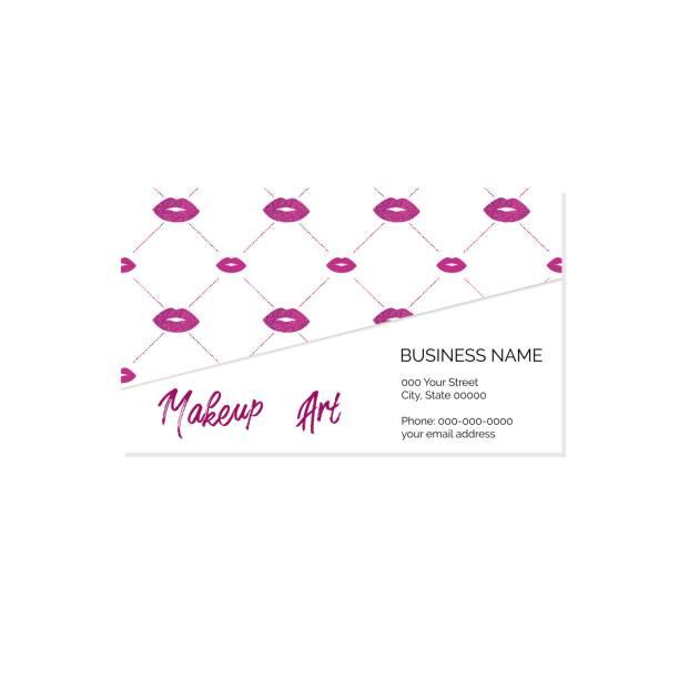 Makeup artist business card vector template vector art illustration