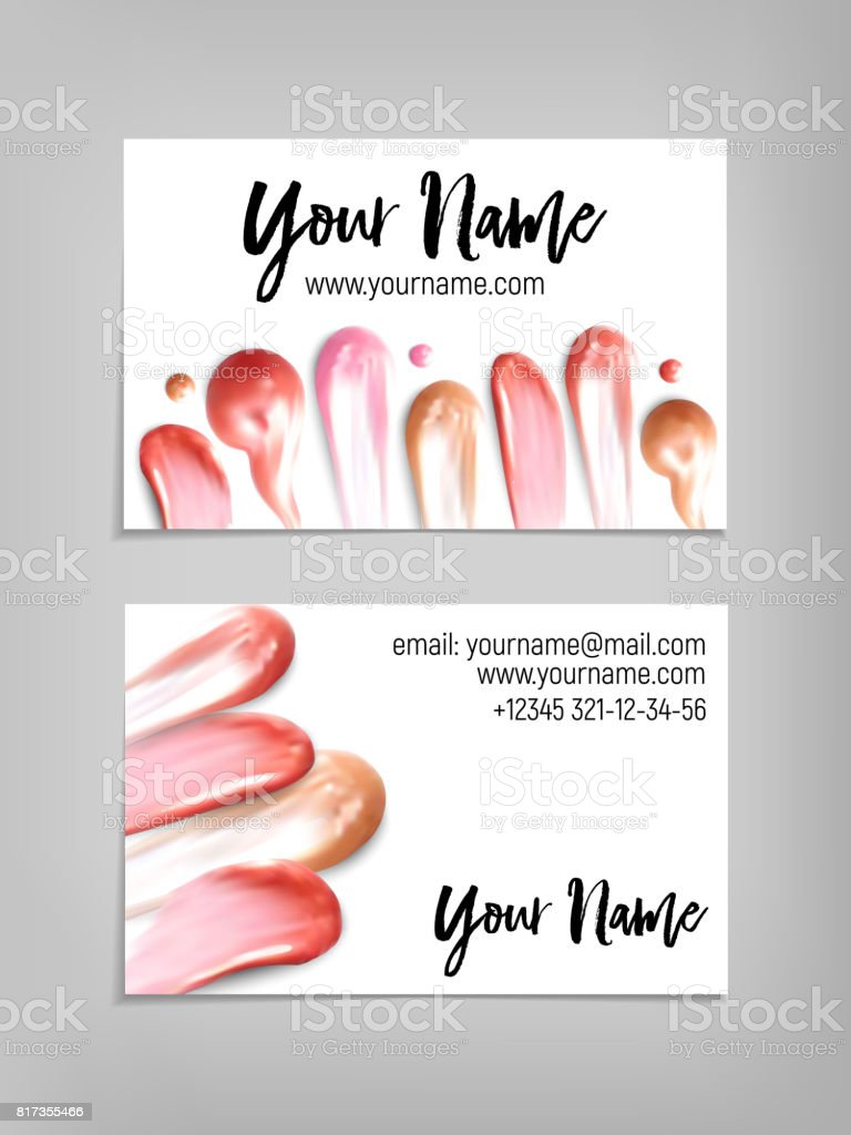 Makeup artist business card vector template stock vector art more makeup artist business card vector template royalty free makeup artist business card vector template cheaphphosting Images