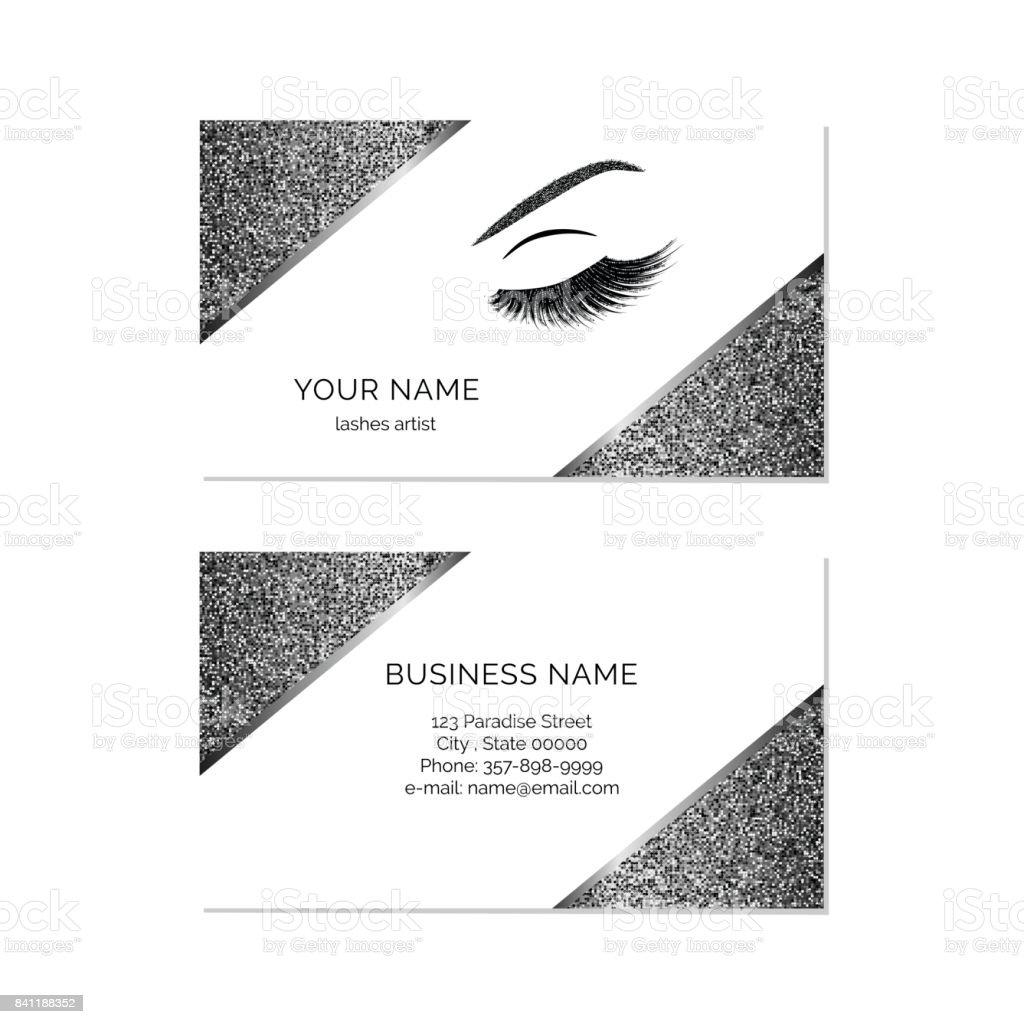Makeup Artist Business Card Vector Template Stock Vector Art & More ...