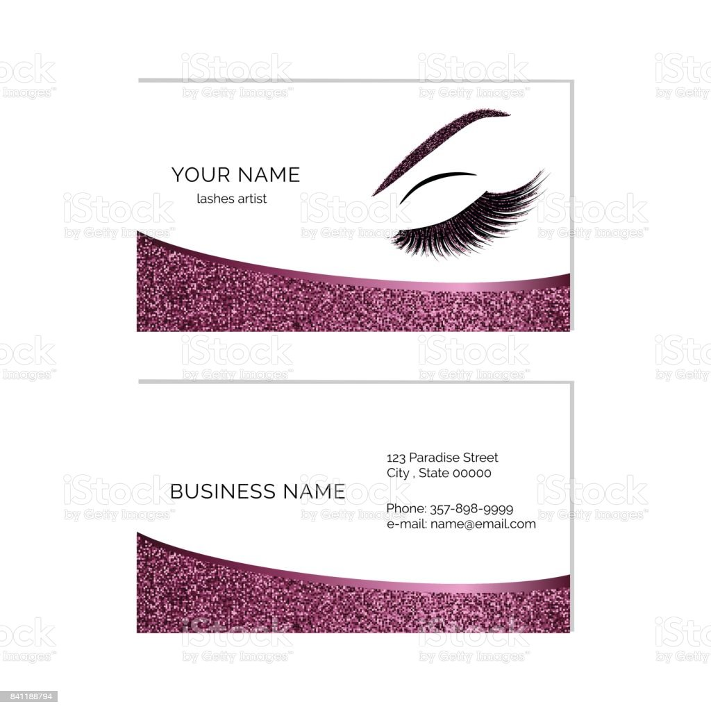 Makeup artist business card vector template stock vector art eye eyelash serbia abstract adult makeup artist business card magicingreecefo Image collections
