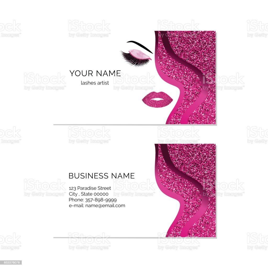 Makeup artist business card vector template stock vector art more makeup artist business card vector template royalty free makeup artist business card vector template stock accmission