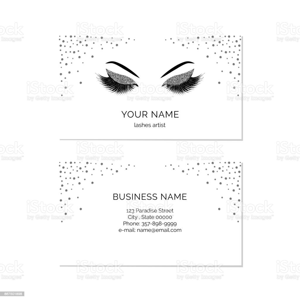 Makeup Artist Business Card Vector Template Stock Vector Art & More ...
