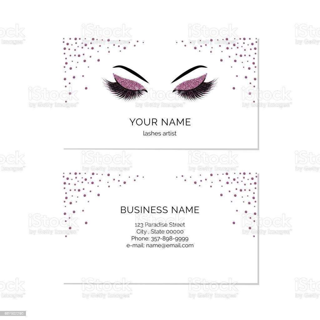 Makeup Artist Visitenkarte Vektor Vorlage Stock Vektor Art