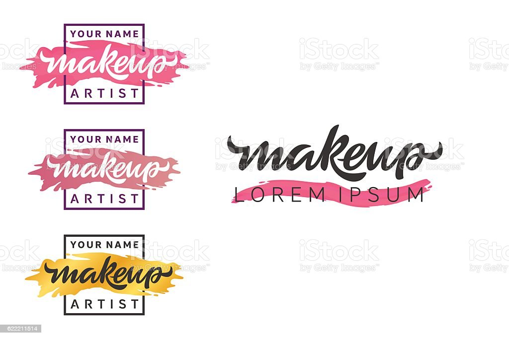 Makeup Artist Logo Royalty Free Stock Vector Art Amp More Images