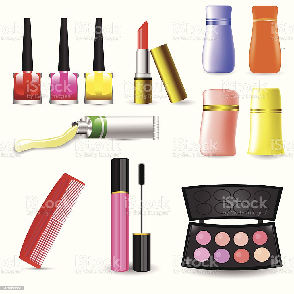Makeup Cosmetic Product vector art illustration