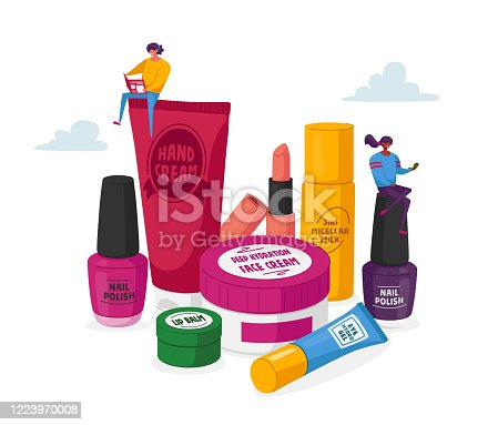 Makeup Courses, Make Up School. Women Spend Time in Beautician Parlor. Female Characters Testing Skin Care Products in Beauty Salon. Cosmetics Masterclass Face Care. Cartoon People Vector Illustration