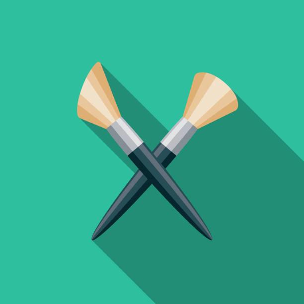 bildbanksillustrationer, clip art samt tecknat material och ikoner med makeup platt design arts ikonen med side skugga - makeup artist