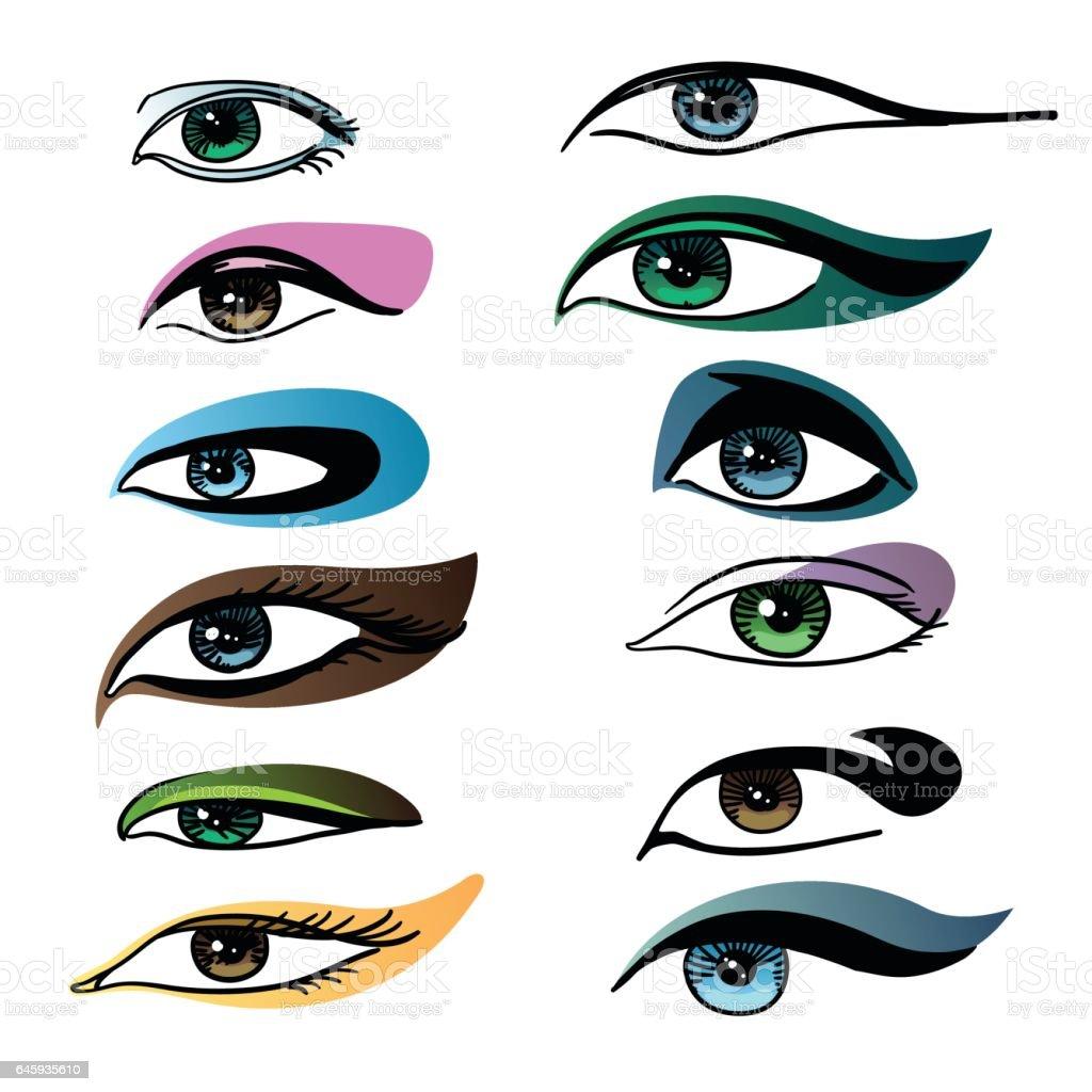 royalty free eye make up clip art vector images illustrations rh istockphoto com vector eye tutorial photoshop