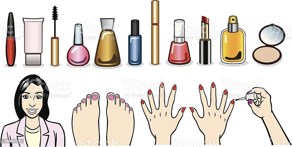 Makeup Illustrations royalty-free stock vector art