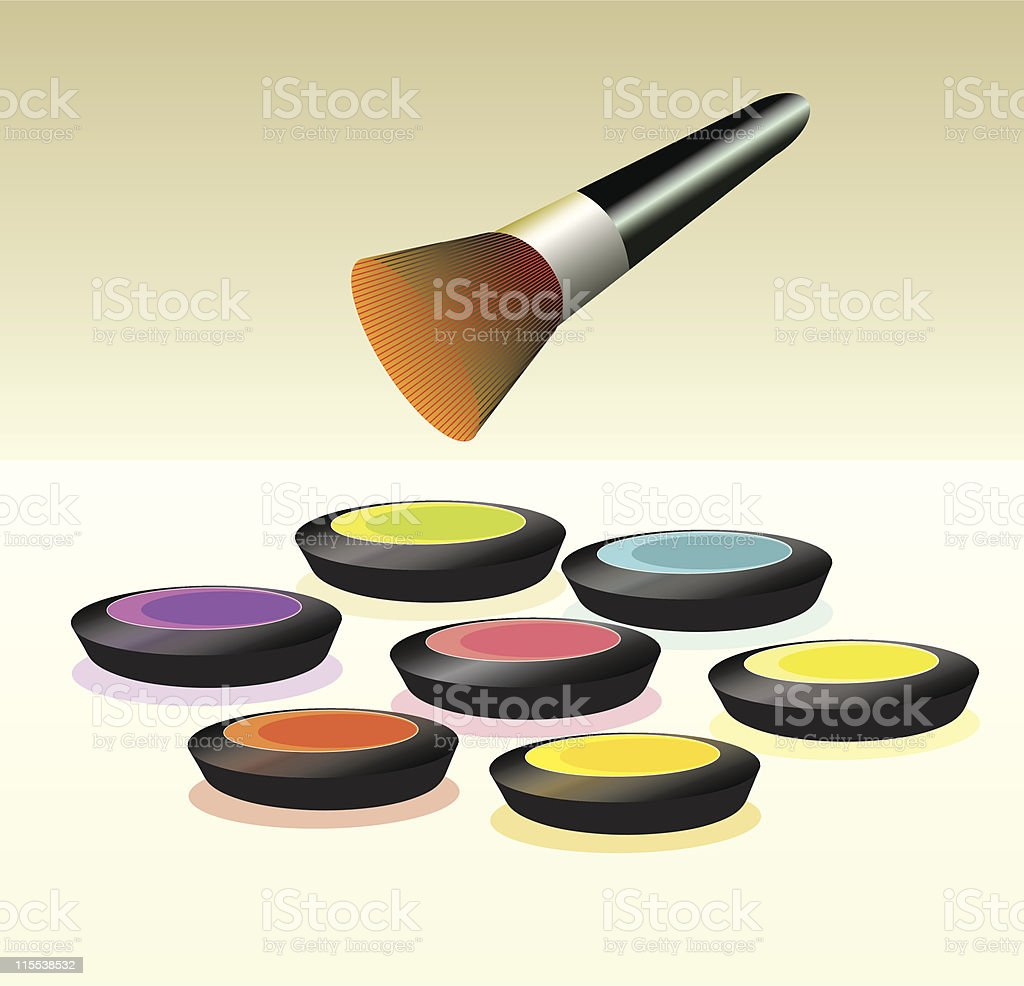Make-up palette royalty-free stock vector art