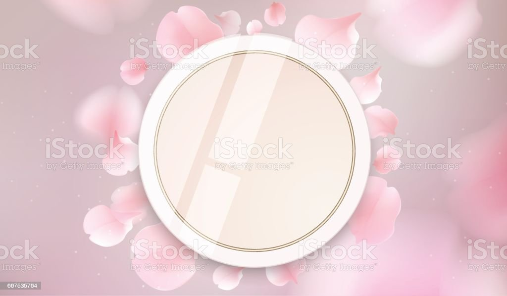 Makeup powder cosmetics vector illustration makeup powder cosmetics vector illustration - immagini vettoriali stock e altre immagini di accudire royalty-free