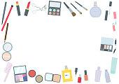 Makeup tool fashionable frame frame set illustration