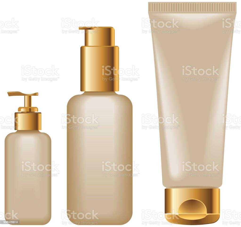 Makeup Tube Skin Health Cream Fashion Mockup Stock Illustration