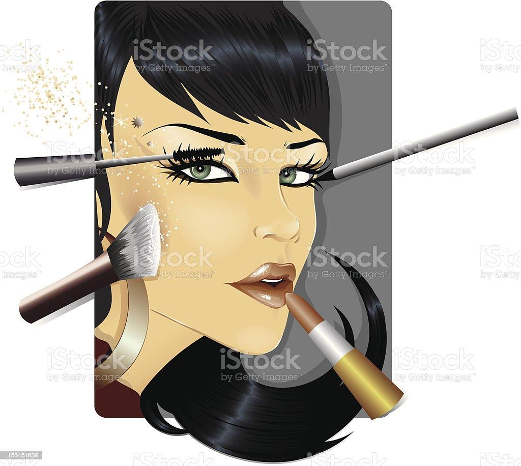 Make-up vector art illustration