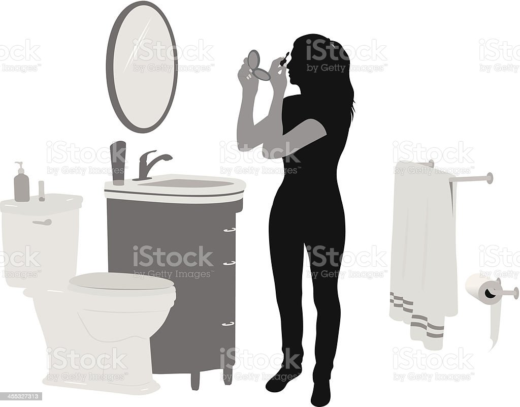 Makeup Vector Silhouette royalty-free stock vector art