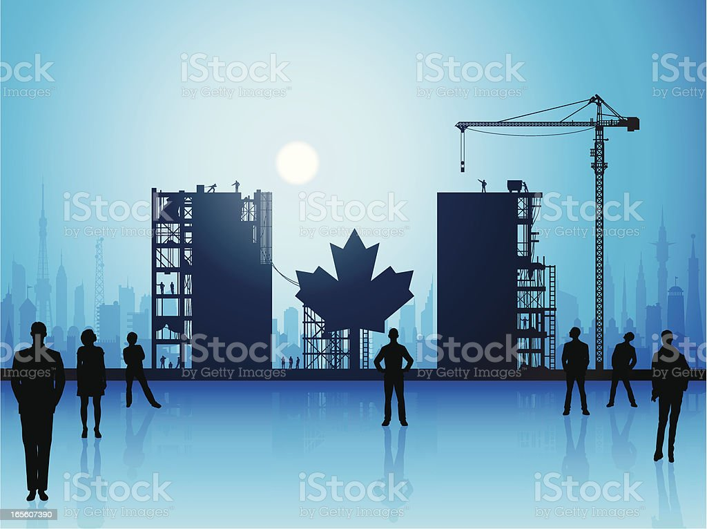 Making a New Canada royalty-free stock vector art
