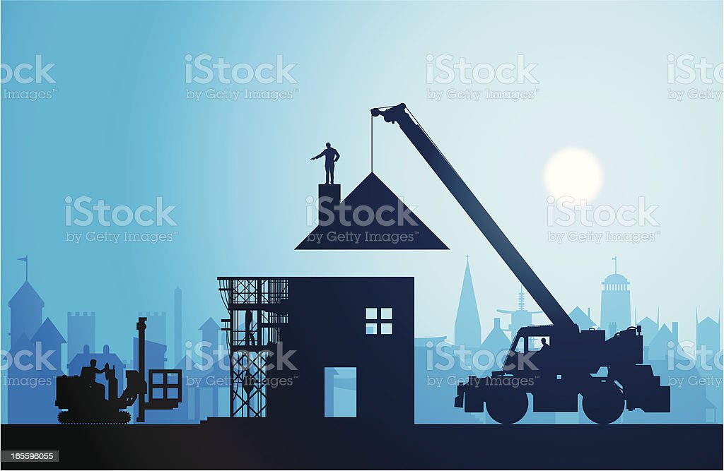 Making a New Home vector art illustration