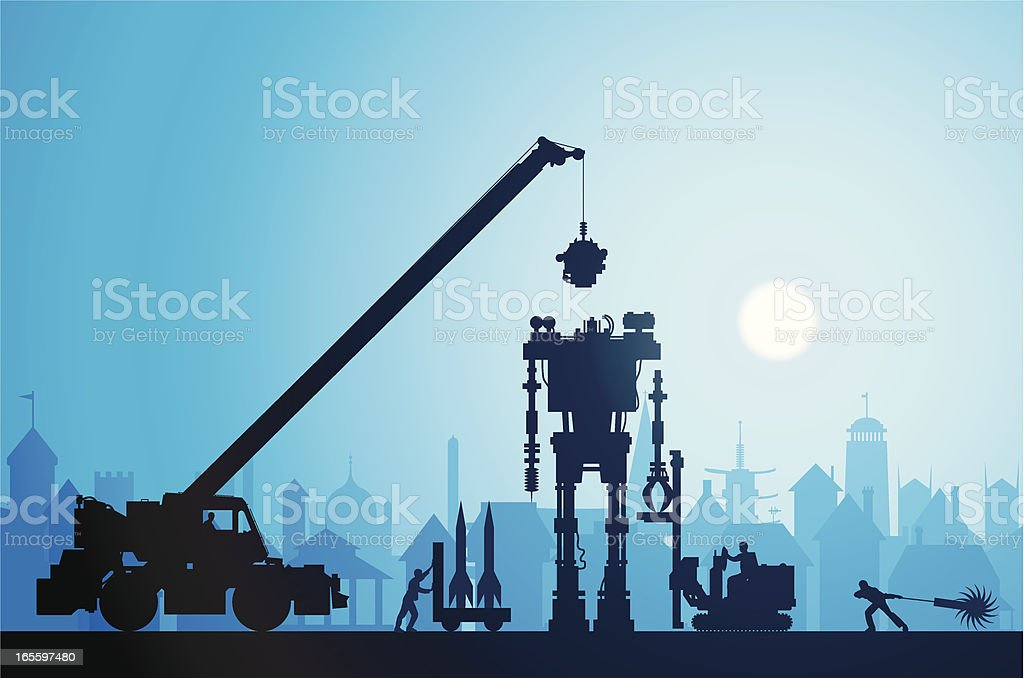 Making a Robot royalty-free making a robot stock vector art & more images of adult