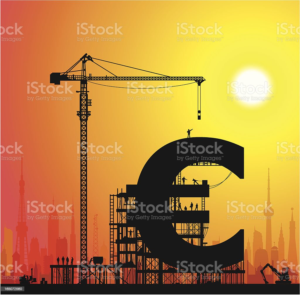 Making Euros in the City royalty-free stock vector art