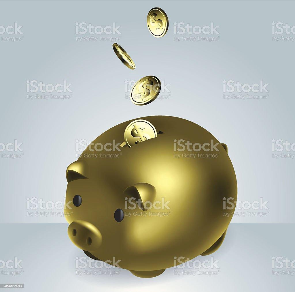 Making Money vector art illustration