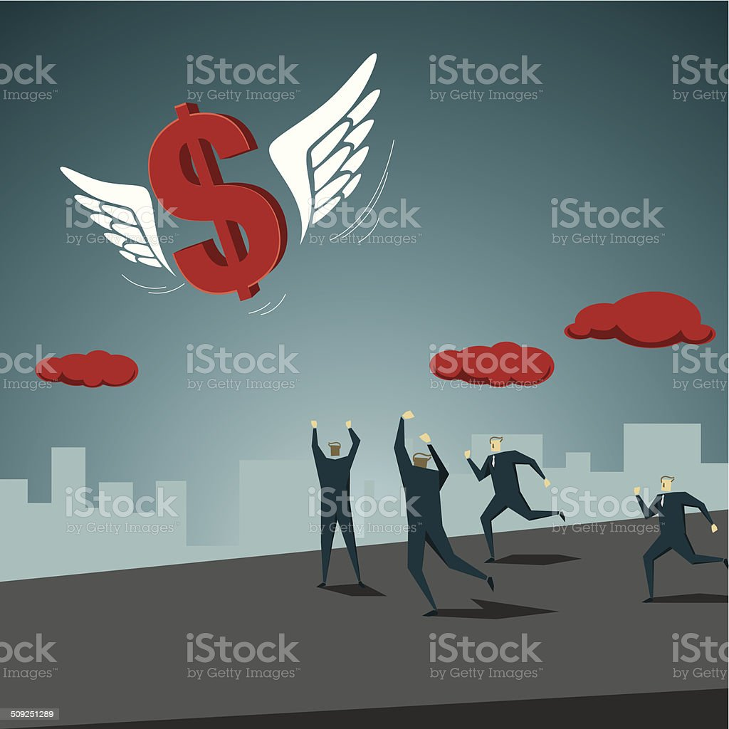 Making Money vector art illustration