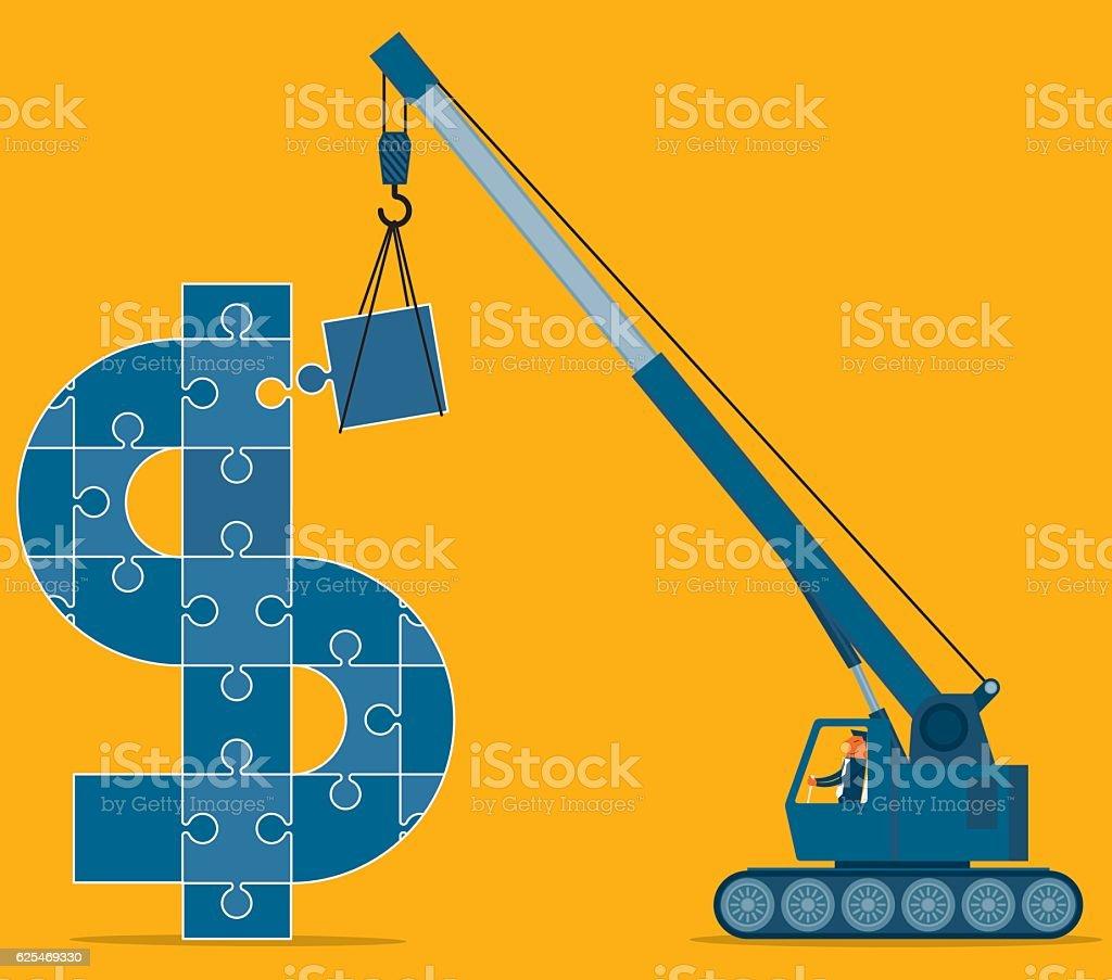 Faire de l'argent - Illustration vectorielle