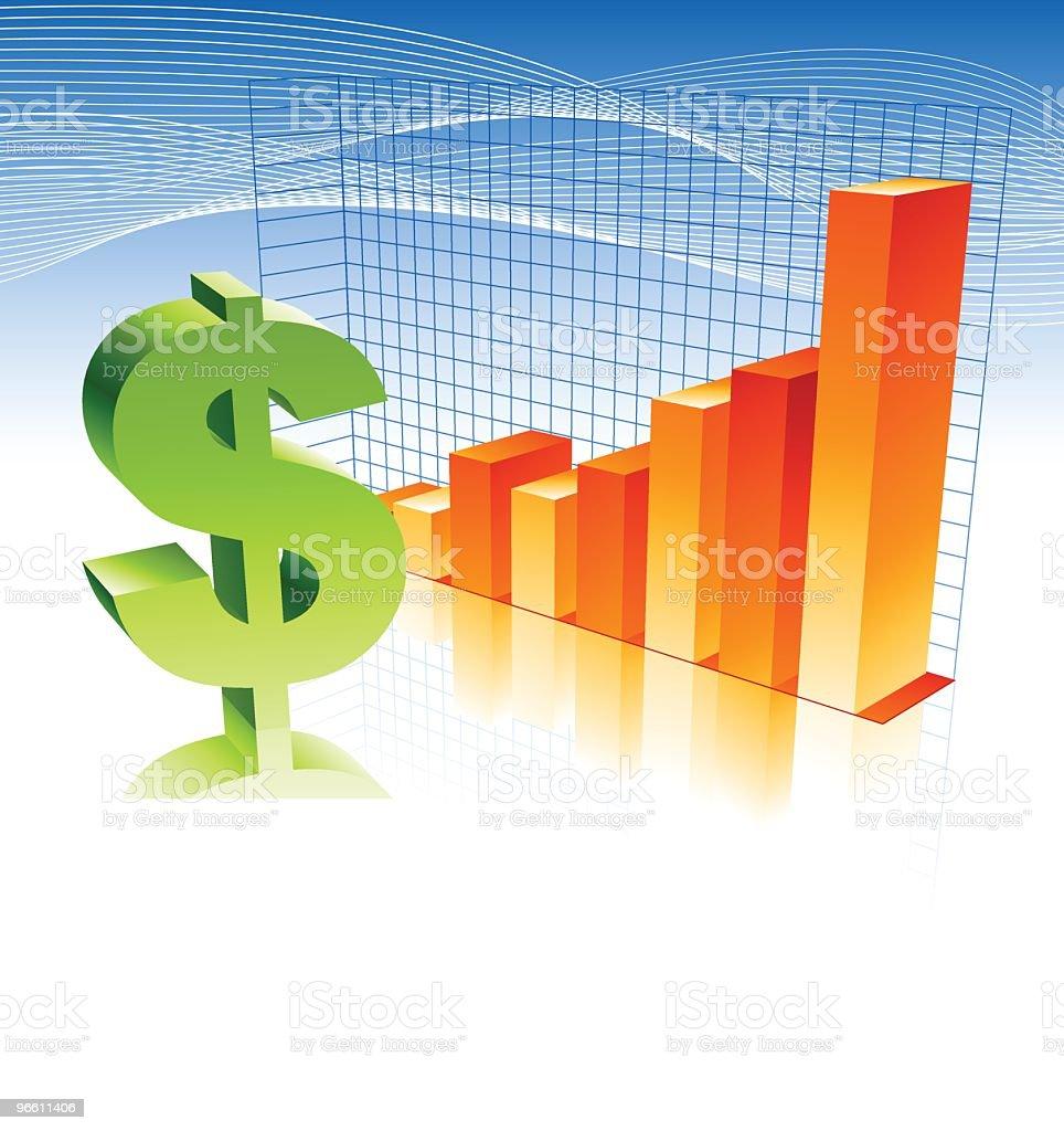 making money!! - Royalty-free Bar Graph stock vector