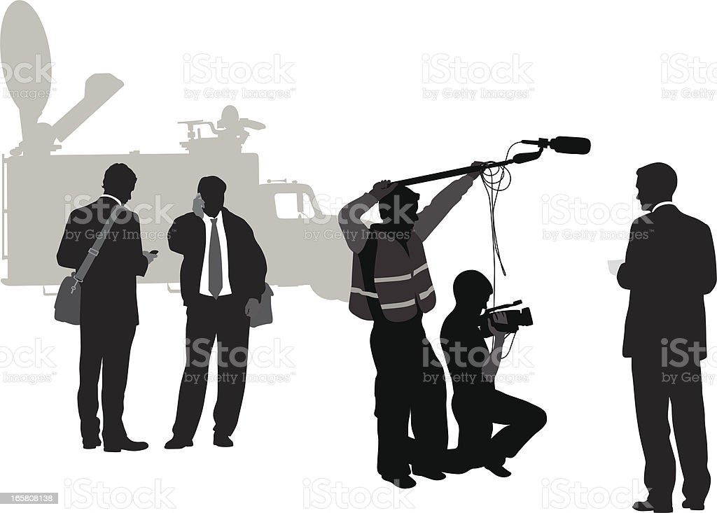 Making News Vector Silhouette royalty-free stock vector art