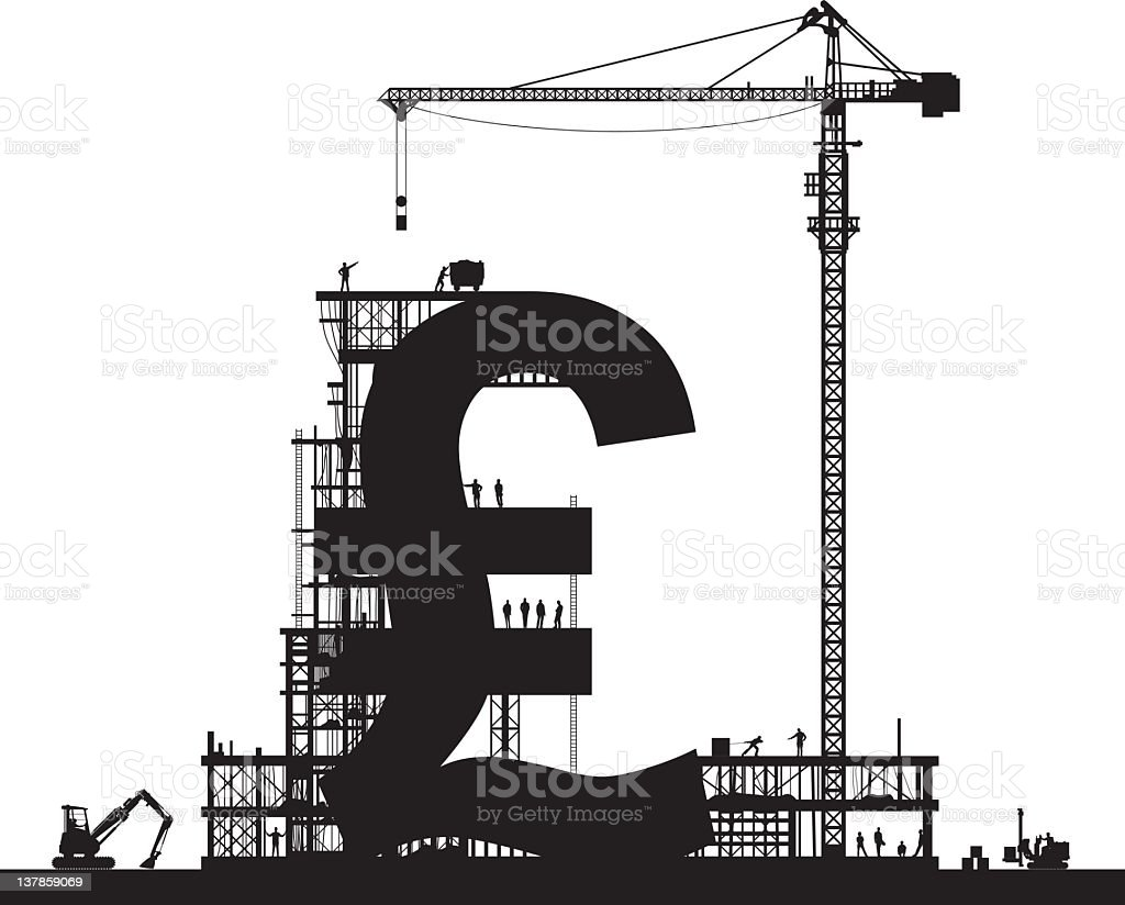 Making Pounds royalty-free stock vector art