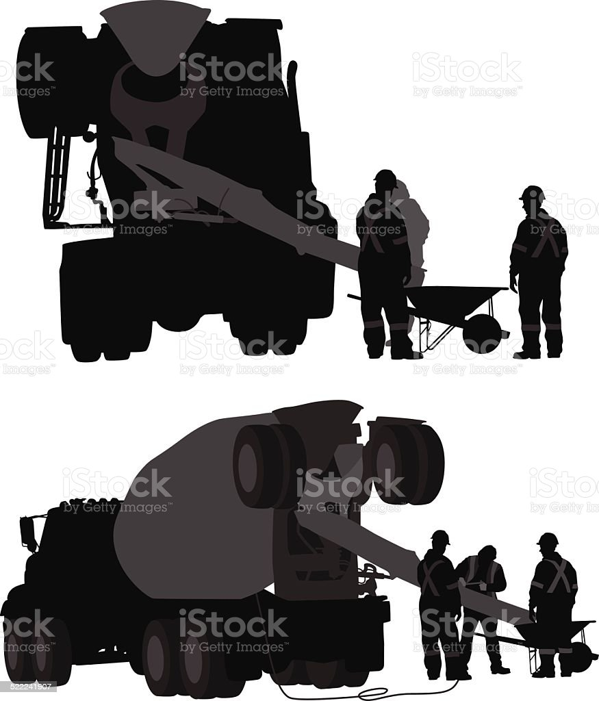MakingCement vector art illustration