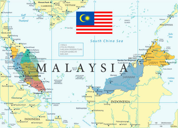 28 - malaysia - color2 10 - kuching stock-grafiken, -clipart, -cartoons und -symbole