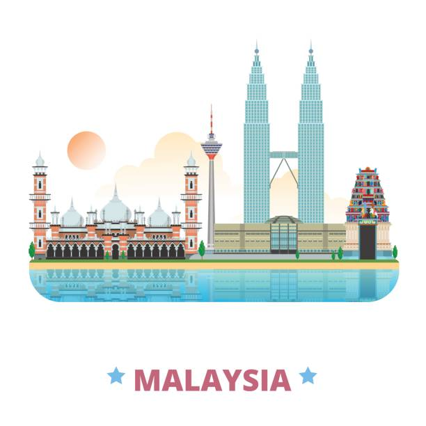 Malaysia Country: Royalty Free Penang State Clip Art, Vector Images