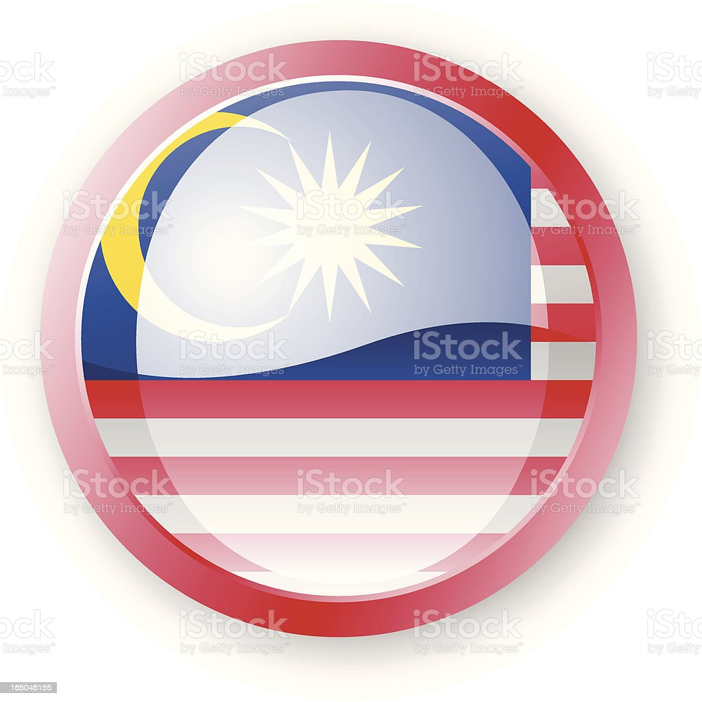 Malaysia Flag Icon royalty-free stock vector art