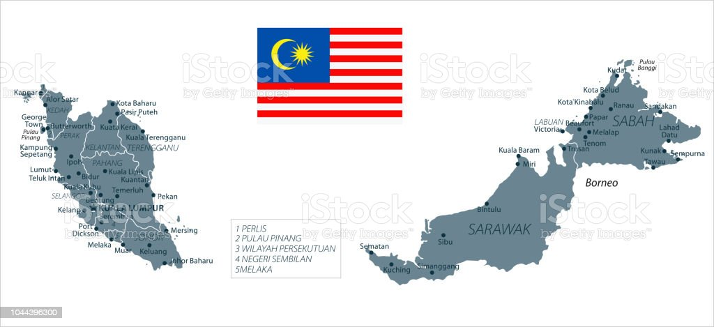 30 Malaysia Grayscale Isolated 10 Stock Vector Art More Images Of