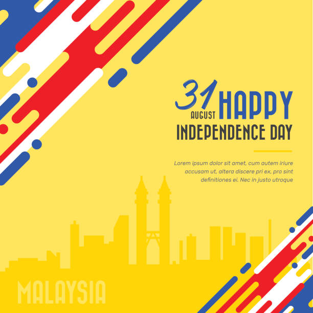 Malaysia Independence day Malaysia Independence day vector illustration independence day holiday stock illustrations