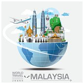 Malaysia Landmark Global Travel And Journey Infographic