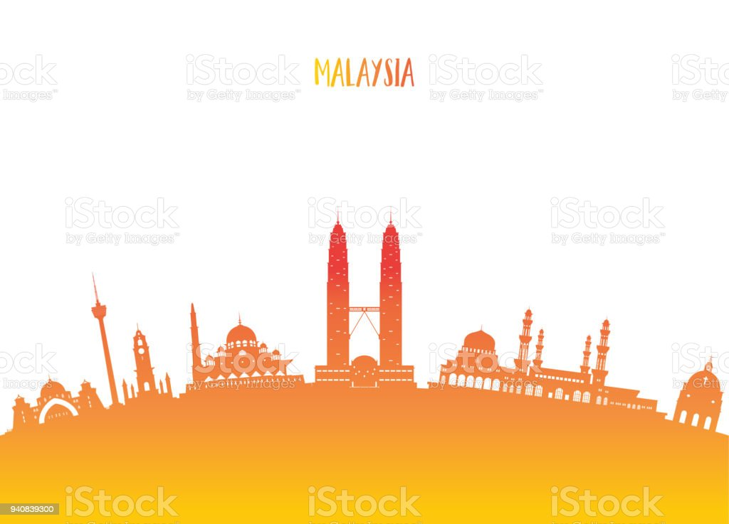 Malaysia Landmark Global Travel And Journey Paper Background Vector Design Templateused For Your