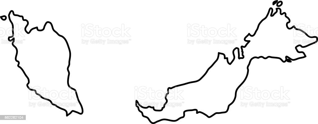 Malaysia map of black contour curves of vector illustration stock malaysia map of black contour curves of vector illustration royalty free malaysia map of black gumiabroncs Choice Image